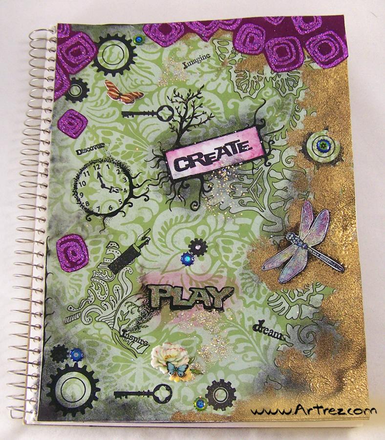 Art Book Front Cover : Starting a new art journal resurrected
